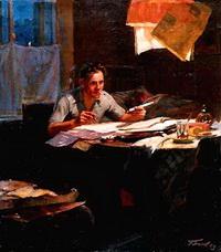 Рабочий-новатор (Ю. Белов, 1954 г.)