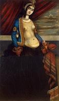 Женщина с шарфом