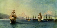 Черноморский флот в Феодосии (И.К. Айвазовский)