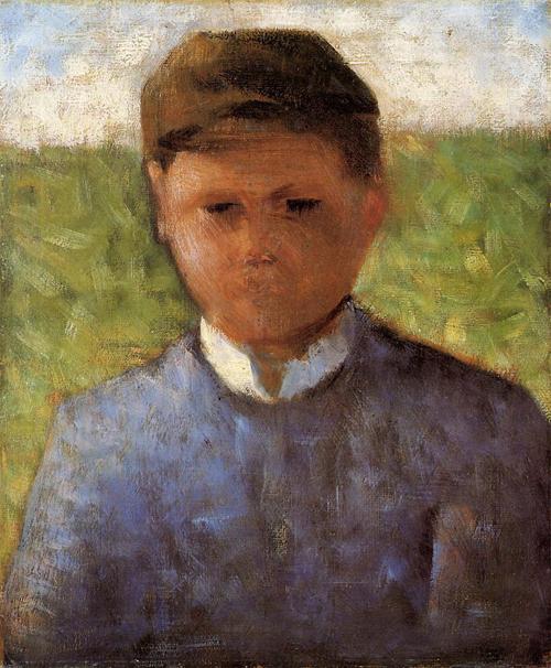 """1882 Сёра Ж.П.""""Молодой крестьянин в синем."""""""
