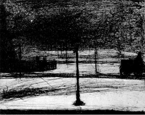 """1883 Сёра Ж.П.""""Площадь Согласия зимой."""""""