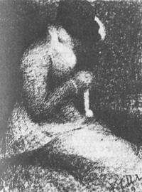 Женщина за вязаньем (Жорж Сёра)