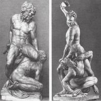 Пьерино да Винчи. Самсон, убивающий филистимлянина