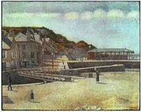 Мост и набережная в Пор-ан-Бессене (Жорж Сёра)