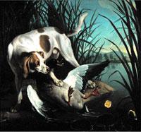 Собака с дикой уткой (Жан-Батист Удри)