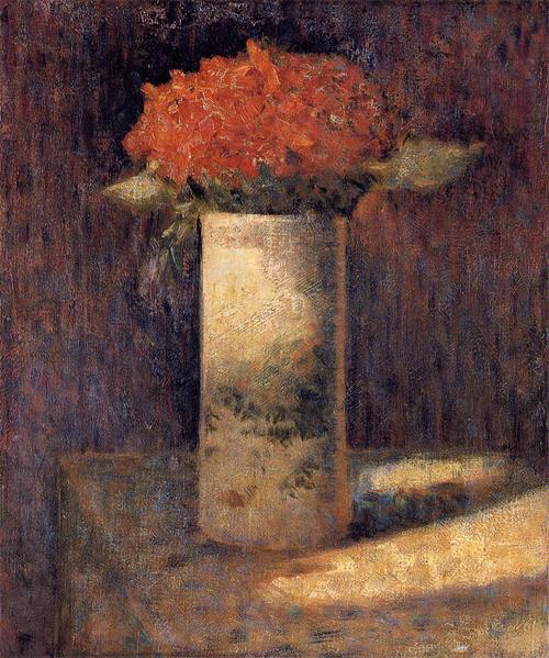 """1879 Сёра Ж.П.""""Букет в вазе."""""""