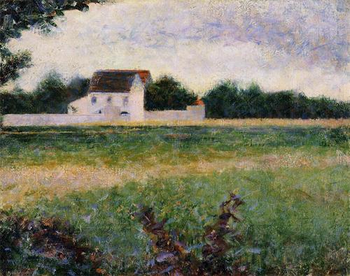 """1882 Сёра Ж.П.""""Пейзаж Иль де Франс."""""""