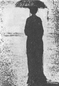 Женщина под зонтиком (Жорж Сёра)