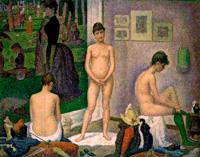 Натурщицы (Жорж Сёра, 1888 г.)
