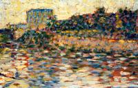 Курбевуа, пейзаж с башней (Жорж Сёра, 1883-1884 г.)