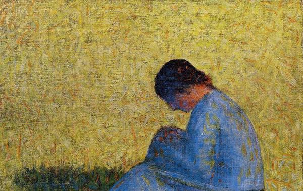 """1883 Сёра Ж.П.""""Сидящая женщина."""""""