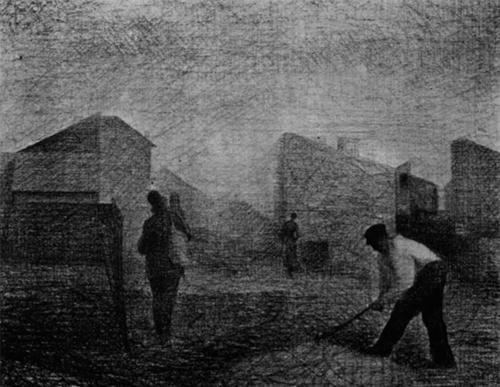 """1881 Сёра Ж.П.""""Дробильщик камней и другие персонажи."""""""