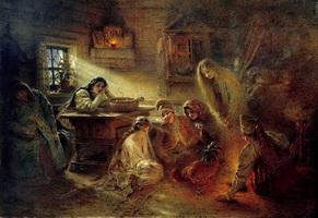Святочные гадания (К.Е. Маковский, 1890-е г.)