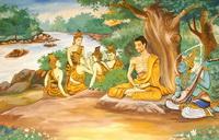 Будда в аскезе — изображение в лаосском храме