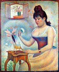 Пудрящаяся женщина (Портрет Мадлен Кноблох)
