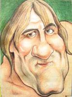 Жерар Депардье (шарж на актёров)