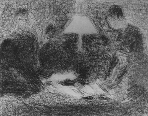 """1883 Сёра Ж.П.""""Вечер в семье."""""""