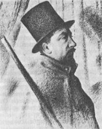 Портрет Поля Синьяка (Жорж Сёра, 1890 г.)