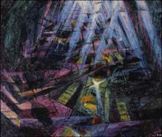 Умберто Боччони. Картина Уличный шум проникает в дом