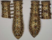 Персидские наручи с насечкой