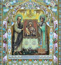 Икона Божией Матери (М.А. Рожкова, скань и эмаль)