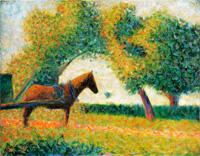 Запряженная лошадь (Жорж Сёра 1883 г.)