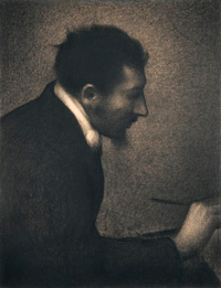 Портрет Эдмона-Франсуа Аман-Жана (Ж. Сёра)