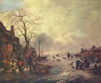Потеха на льду (И. ван Остаде, 1640-1645 г.)