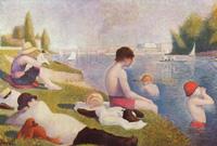Купание в Аньере (Жорж Сёра, 1883-1884 г.)