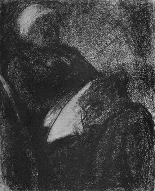 """1882 Сёра Ж.П.""""Женщина за вышиванием."""""""