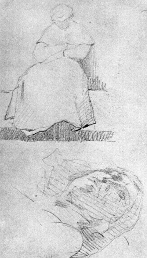 "1880 Сёра Ж.П.""Этюд фигур."""